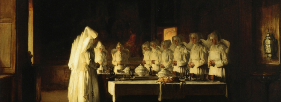 Sisters of Charity saying Grace before a Meal | Joseph Bail, 1895