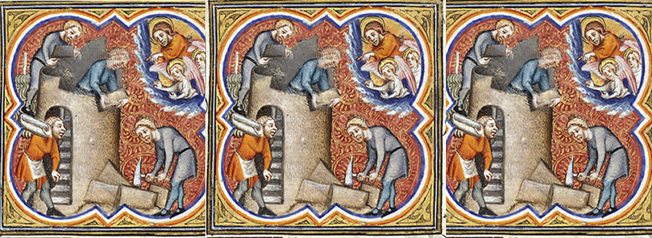 Of the Tower of Babel | Giuard des Moulin, 14th century