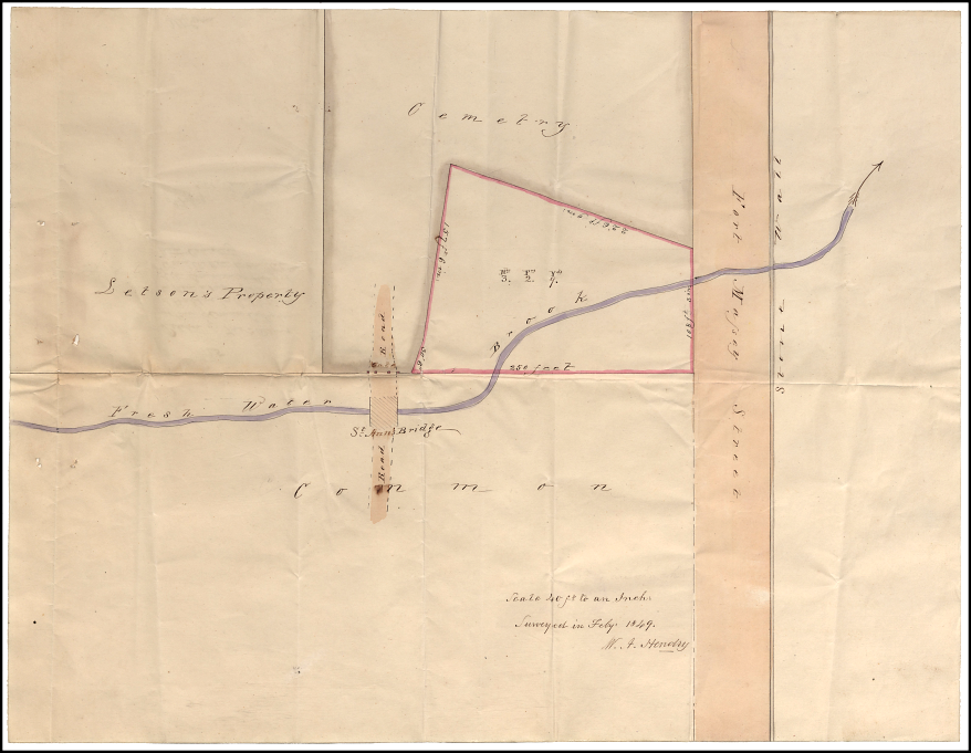V12/240 Holy Cross Cemetery Halifax, Survey Map (1849), Original held in Nova Scotia Public Archives.