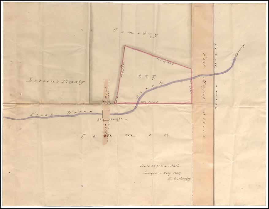 V12/240 Holy Cross Cemetery Halifax, Survey Map (1849), Original held in Nova Scotia Public Archives.