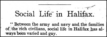 """""""Social Life in Halifax"""", in Halifax Mercury, Aug 29, 1889"""