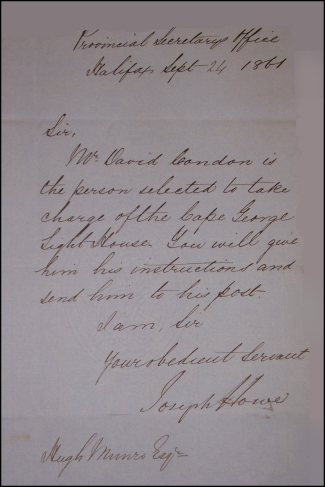 Howe Letter of Appointment