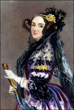 Ada King, Countess of Lovelace (first programmer) | Chalon, 1840