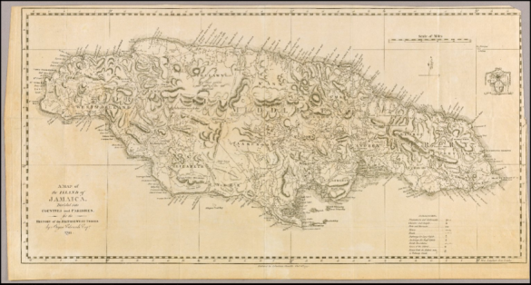 A Map of the Island of Jamaica, 1794 (Edwards), Original in the John Carter Brown Library at Brown University