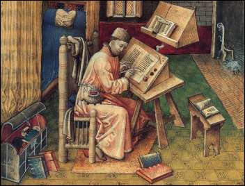 Jean Mielot at his Desk | Unknown Miniaturist, c. 1450-1500