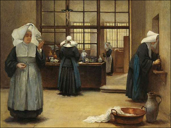 Nuns at Work in the Cloister | Henriette Browne (Sophie de bouteiller), 19th Century