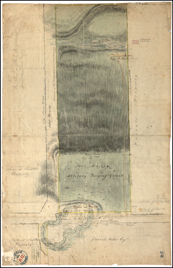 REO A.17 Halifax, Survey Map, Former Fort Massey Property (1828), Original held in Nova Scotia Public Archives.