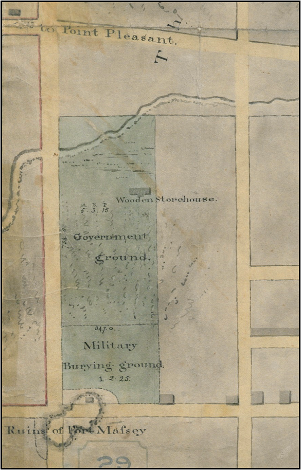 REO V.11 Halifax, Survey Map, Former Fort Massey Property (1838), Original held in Nova Scotia Public Archives.